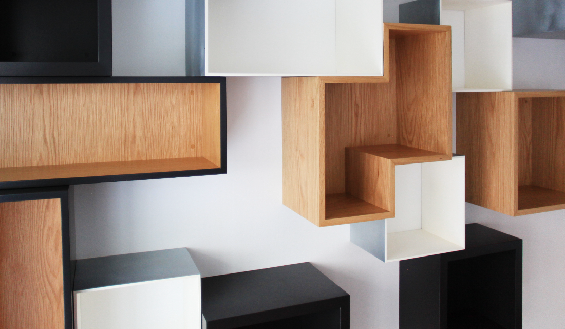 bibliotheque noir laque max min. Black Bedroom Furniture Sets. Home Design Ideas